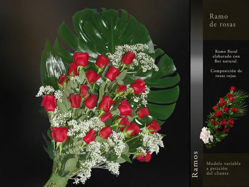 Ramo de rosas rojas funerarias noega for Jardin noega tanatorio gijon esquelas